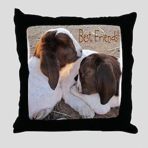 Best Friends! Throw Pillow
