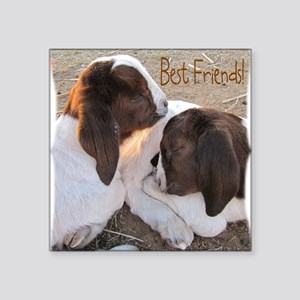 "Best Friends! Square Sticker 3"" x 3"""