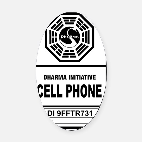 Dharma cell phone Oval Car Magnet