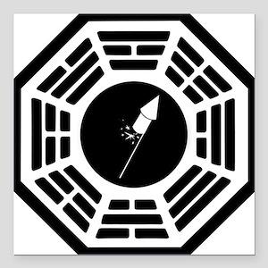 "Dharma-logo-Silvester Square Car Magnet 3"" x 3"""