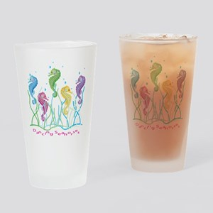 Dancing Seahorses Design Drinking Glass