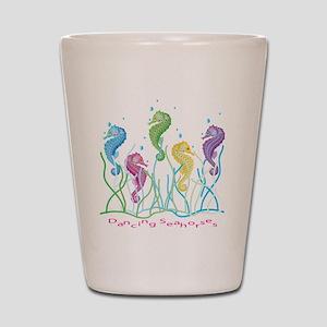 Dancing Seahorses Design Shot Glass