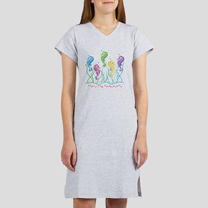 Dancing Seahorses Design Women's Nightshirt