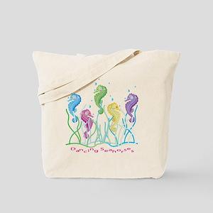 Dancing Seahorses Design Tote Bag