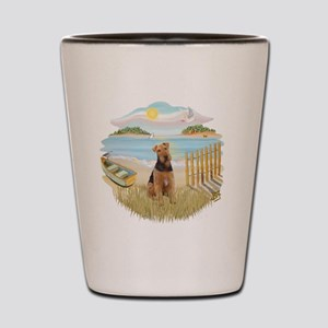 Rowboat - Airedale 1 Shot Glass