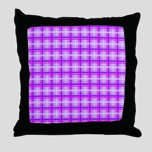 Pink Plaid copy Throw Pillow