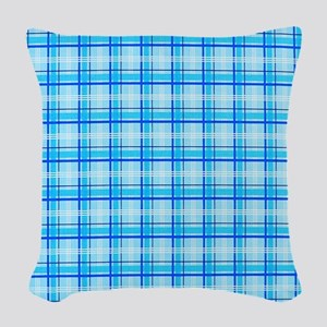 Pink Plaid copyyy Woven Throw Pillow