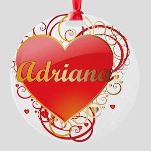 Adriana-Valentines Round Ornament
