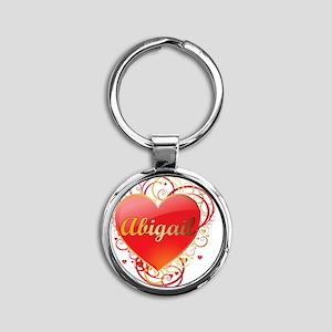 Abigail-Valentines Round Keychain