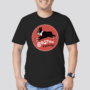 bostonredcirclehigher Men's Fitted T-Shirt (dark)