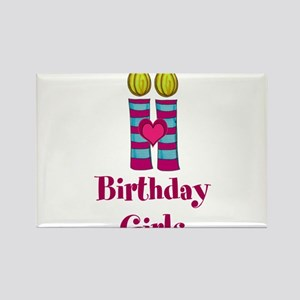 Birthday Girls Two Candles Magnets