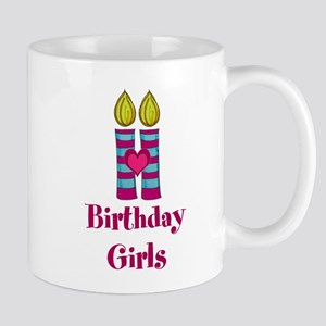 Birthday Girls Two Candles Mugs