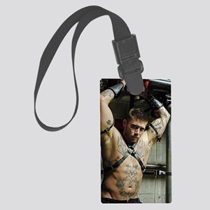 sexy industrial gladiator shot Large Luggage Tag