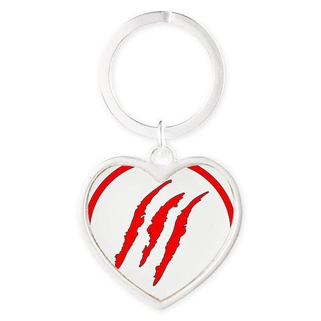 Claw Marks Heart Keychain