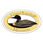 Grand Rapids Loon Sticker (Oval)