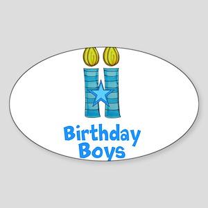 Birthday Boys Two Candles Sticker
