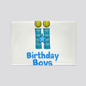 Birthday Boys Two Candles Magnets