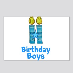 Birthday Boys Two Candles Postcards (Package of 8)