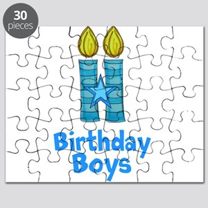Birthday Boys Two Candles Puzzle