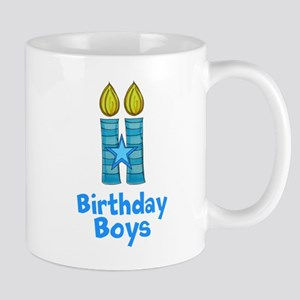 Birthday Boys Two Candles Mugs