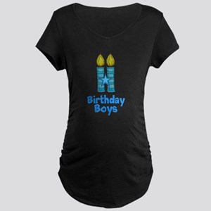 Birthday Boys Two Candles Maternity T-Shirt