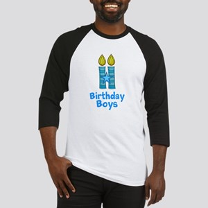 Birthday Boys Two Candles Baseball Jersey