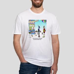 7742_robot_cartoon Fitted T-Shirt