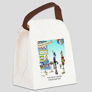 7742_robot_cartoon Canvas Lunch Bag