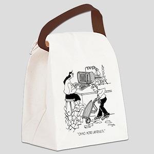 1930_lab_cartoon_EK Canvas Lunch Bag