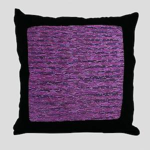 Purple and Bronze Metallic Throw Pillow