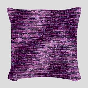 Purple and Bronze Metallic Woven Throw Pillow