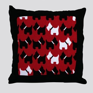 Scottie Dogs Red Throw Pillow