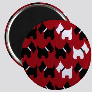 Scottie Dogs Red Magnet