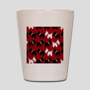 Scottie Dogs Red Shot Glass