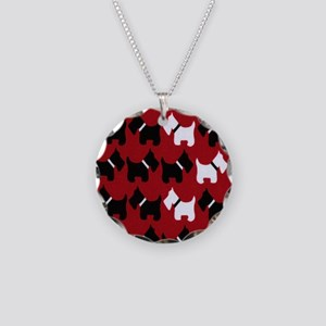 Scottie Dogs Red Necklace Circle Charm
