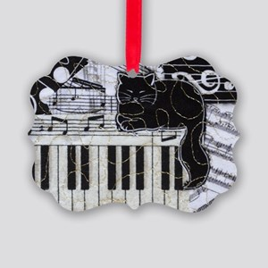keyboard-sitting-cat-horiz Picture Ornament