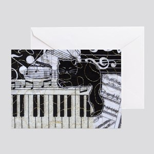 keyboard-sitting-cat-horiz Greeting Card