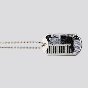 keyboard-sitting-cat-horiz Dog Tags
