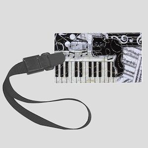 keyboard-sitting-cat-horiz Large Luggage Tag