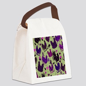 Tossed Chickens copy Canvas Lunch Bag