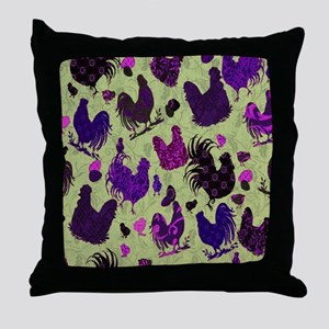 Tossed Chickens copy Throw Pillow