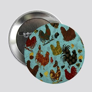 """Tossed Chickens 2.25"""" Button"""