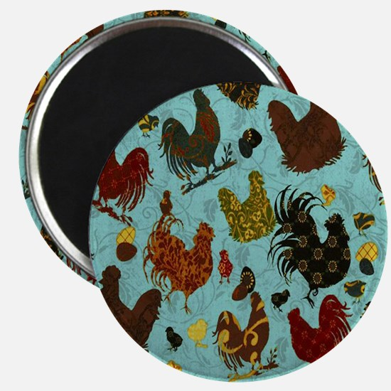 Tossed Chickens Magnet