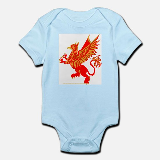 Gryphon Red Gold Infant Bodysuit