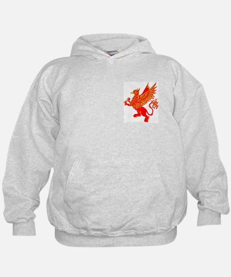Gryphon Red Gold Hoodie