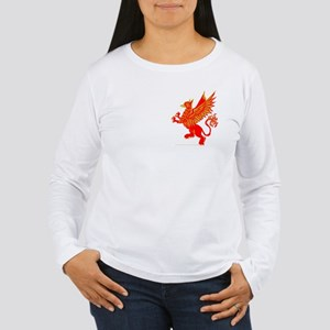 Gryphon Red Gold Women's Long Sleeve T-Shirt