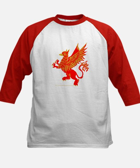 Gryphon Red Gold Kids Baseball Jersey