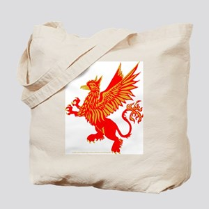 Gryphon Red Gold Tote Bag