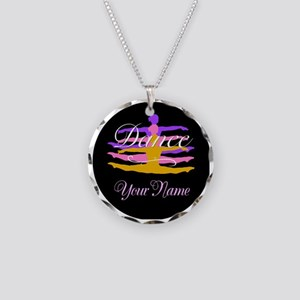 Dance Customizeable Necklace Circle Charm
