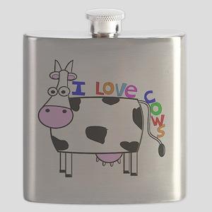 I love Cows KIDS Flask